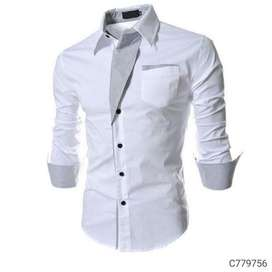 Cotton solid slim fit casual shirts