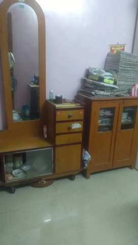 Dressing table and Cupbord