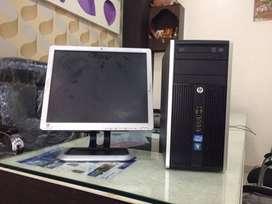 HP I3 2nd gen 8 gb ram 256 gb ssd 19 led full set desktop warranty A++