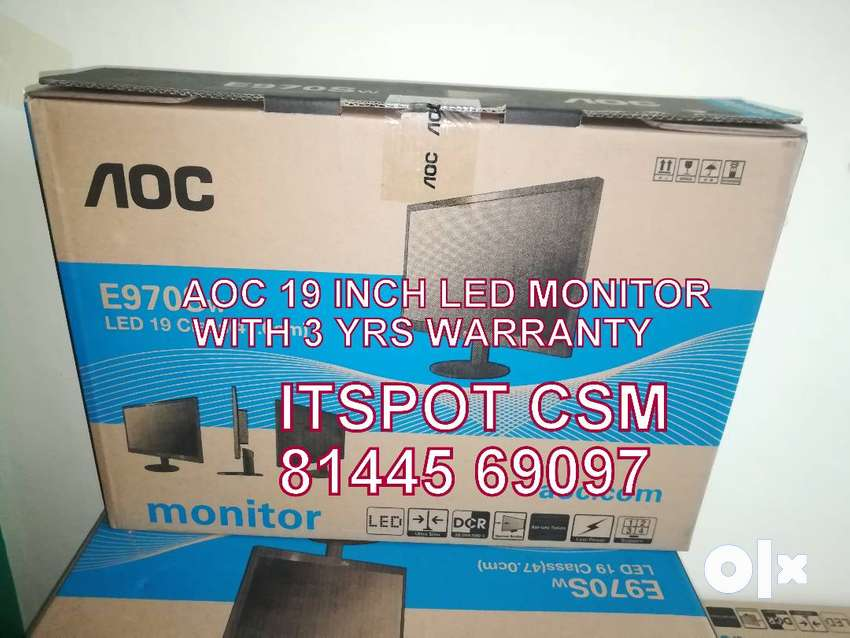 """""""AOC"""" and """"DELL"""" NeW Led monitor 19 inch - 3yrs 0nsite warranty 0"""