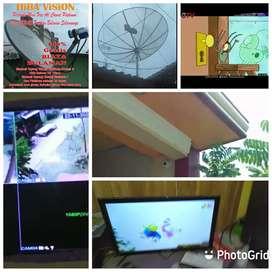 Teknisi pasang parabola besar kecil mini gratis area ulee kareng