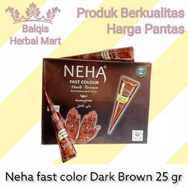 Neha Fast Color Dark Brown 25 gram Pacar Kuku