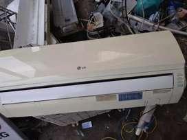 Jual AC LG 1/2pk mulus bening bergaransi watt 260 hrga bersih