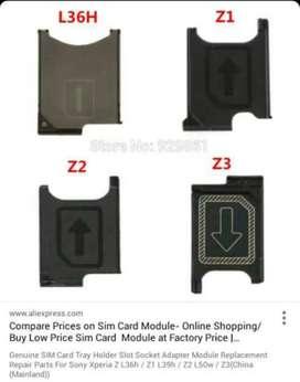 Sim Tray Sony Xperia Z Z1 Z2 Z3 Z4 compact big mini docomo
