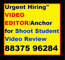 """Hiring"""" VIDEO EDITOR/Anchor Shoot Student Video Review"""