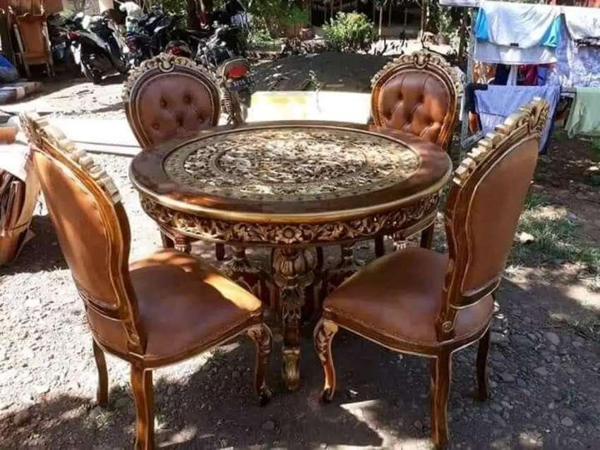 Kursi makan, meja makan jati,minimalis sofa 0