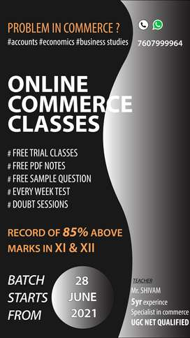 class 11 & 12 commerce classes all subject and UGC NET PAPER 1 classes