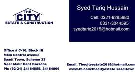 400 yards 60 feet wide road west open plot block-2, saadi garden