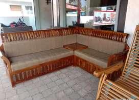 New wood corner sofa