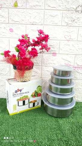 Bowl Set Stainless Susun 5/ Mangkok Set