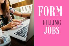 Form filling/Simple Data Entry/Online work from home/ Part- Full Time