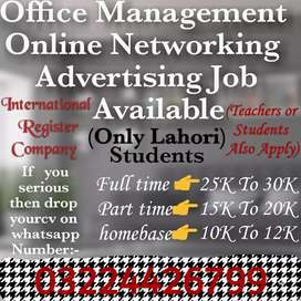 Online job available for student and teachers