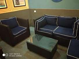 Sofa set black colour