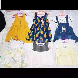 Dress babygirl import size 1-5th buy 1 get 1