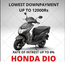 HONDA DIO AT LOWEST DOWNPAYMENT 9% RATE OF INTREST