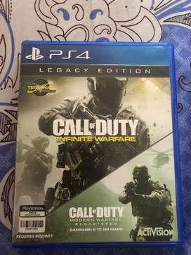 Kaset PS4 Call Of duty Infinite Warfare Modern Warfare Legacy Edition