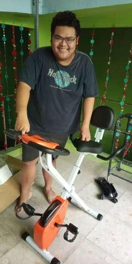 New Sepeda fitnes X bike lipat magnetik pakai sandaran