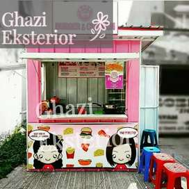 BOOTH SEMI CONTAINER /CONTAINER USAHA KULINER /CONTAINER FOODCOURT