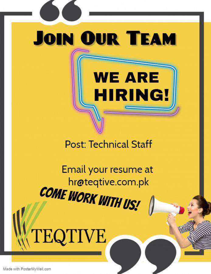 Technical Staff Required 0