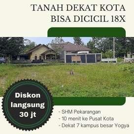 Tanah Dijual Sleman Daerah Jl. Godean KM 5 Sertifikat SHM xixilan 20x