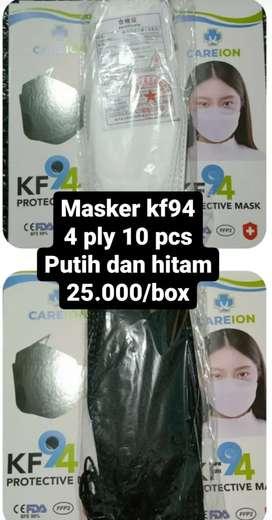 Masker kf94 warna putih, hitam dan mix 5 warna