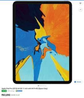 Ipad pro 11 inch wifi +sim 64gb+ cellular  one month old FIX PRICE