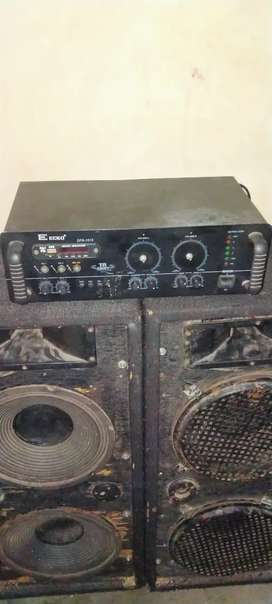 12 inch ( 2 Top ) with amplifier [ Rs 8000 ]