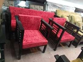 Five sitter sofa set in teak wood