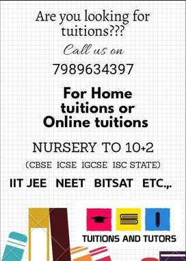 home tutor and online tutor