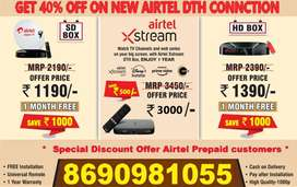 Best New Airtel  DTH Plan in best price new  dth connection SD/HD box