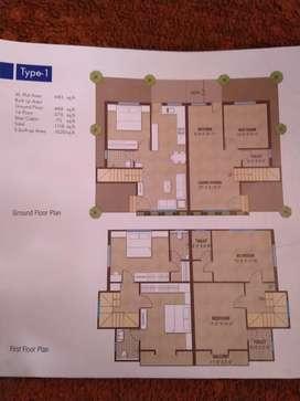 3BHK Duplex semi furnished