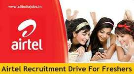 Airtel process job openings for Freshers/Exp. hiring for Backend/BPO