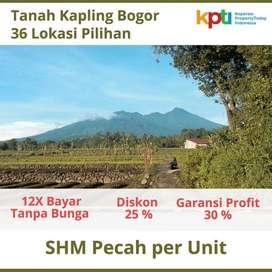 Tanah Luas 96 m2 Dekat Kebun Raya, Garansi Profit 30%