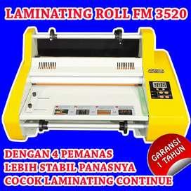 Mesin Laminating Roll FM 3520 Yellow 4 Lampu Cocok Laminating Continue
