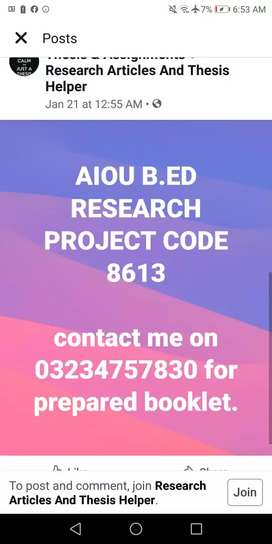 Research project code 8613 is available at reasonable price