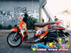sticker decal motor/mobil