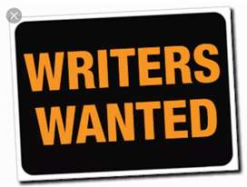 English Article/Content Writers Needed Rs.150 per 1000 words Writing
