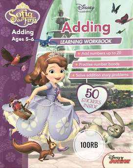BUKU Disney Sofia the First - Adding Learning Workbook