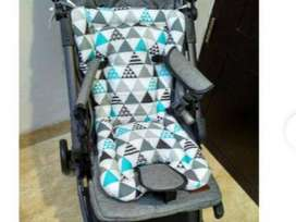 PROMO - Alas Stroller Seat Pad Lubang 3  Bantalan Tatakan Duduk Stroll