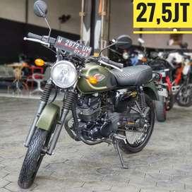 Kawasaki W175 S.E Green Army 2018, KM 3rb Super Istimewa,Mustika Motor