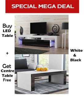 Buy Stylish LED Tables in pakistan & Get free center Table