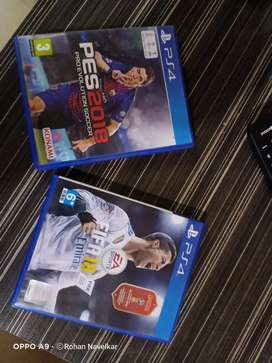 PS4 fifa 18 and pes 18 for just