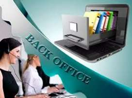 12th pass back office job for freshers and experience