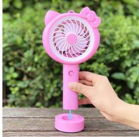 Mini Fan Lampu Led Portable Karakter