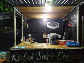 Booth semi kontainer / gerobak jualan