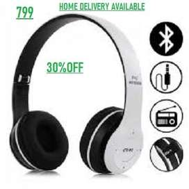 P47 Wireless Bluetooth Headphones For Gaming - Black Color