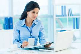 A good looking girl for office assistant and PS