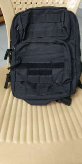 Tactical military backpack with mole system.