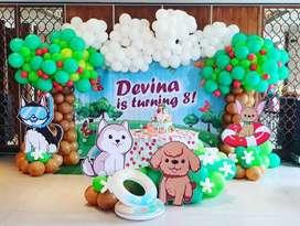Balon dekorasi ulang tahun atau perayaan
