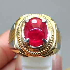 Batu Cincin Ruby Merah Delima Natural